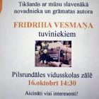 , Tikšanās ar Fridriha Vesmaņa tuviniekiem