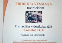 Tikšanās ar Fridriha Vesmaņa tuviniekiem