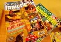 """3.a un 3.b klases tikšanās ar žurnāla """"Ilustrētā Junioriem"""" redaktorēm Bērsteles kultūras namā"""