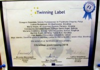 "3.b klase eTwinning projektā ""Christmas postcrossing"" 2015"
